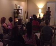 Cynthia Clark Presenting Essential Oils